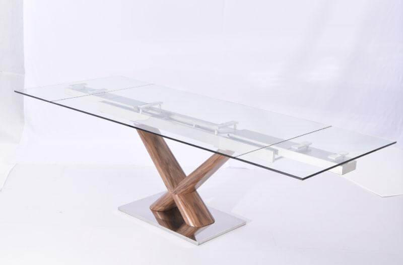 שולחן זכוכית לפינת אוכל דגם 'אקירא'