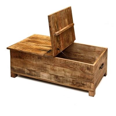 שולחן/ארגז אחסון מעץ 1.08X60