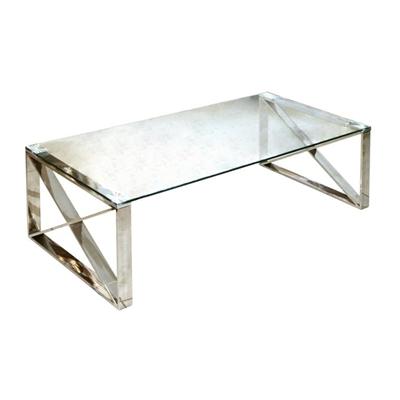 שולחן קפה נירוסטה 120X60