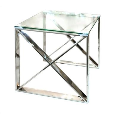 שולחן צד נירוסטה 55X55