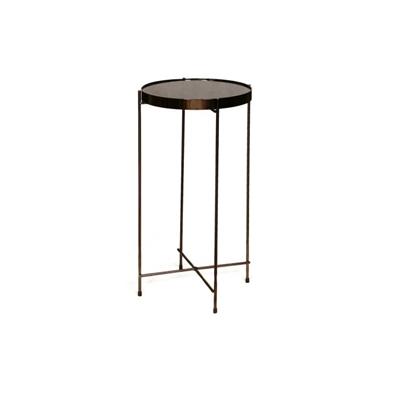 """שולחן עגול שחור 30 ס""""מ"""