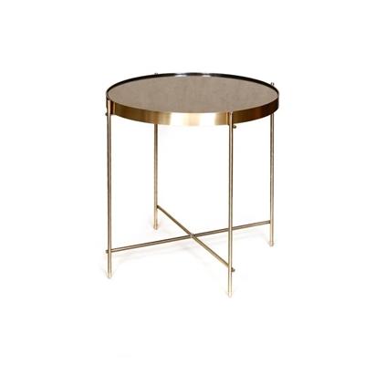 """שולחן עגול ניקל 40 ס""""מ"""
