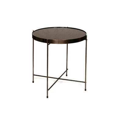 """שולחן עגול שחור 40 ס""""מ"""