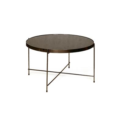 """שולחן עגול שחור 62 ס""""מ"""