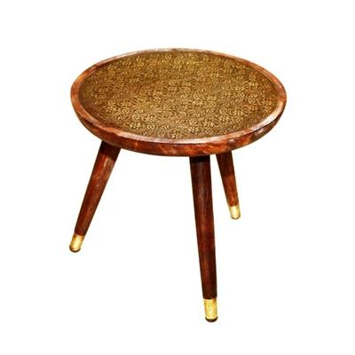 """שולחן עגול/מתכת 45 ס""""מ"""