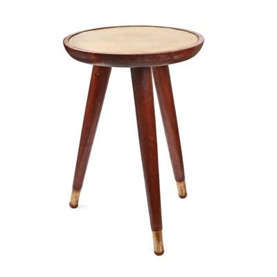 שולחן אובלי עץ מתכת