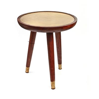 שולחן אובלי מעץ/מתכת 42X40X45