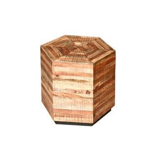 """שולחן עץ משושה 45 ס""""מ"""