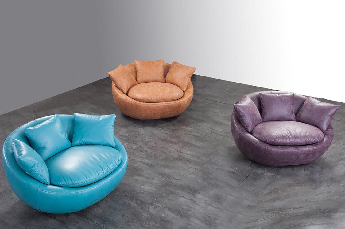 כורסאות מעוצבות מעור Love Seat