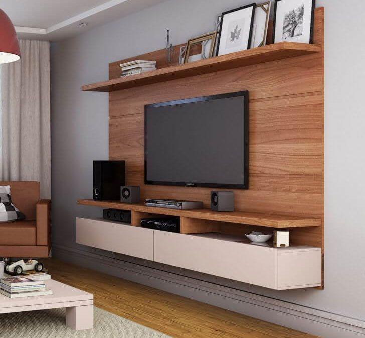 מסגרת לטלויזיה מעץ לסלון דגם 'ארמני'