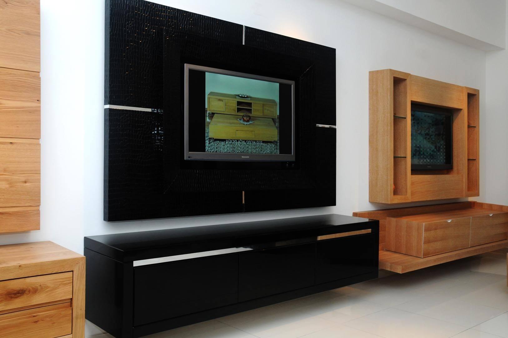 מזנון תלוי שחור לסלון דגם קרוק