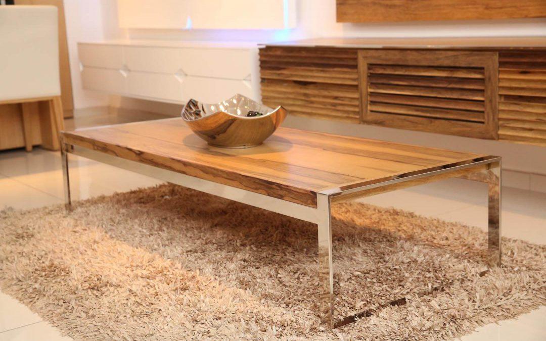 שולחן סלון מעץ דגם 'אגוז'