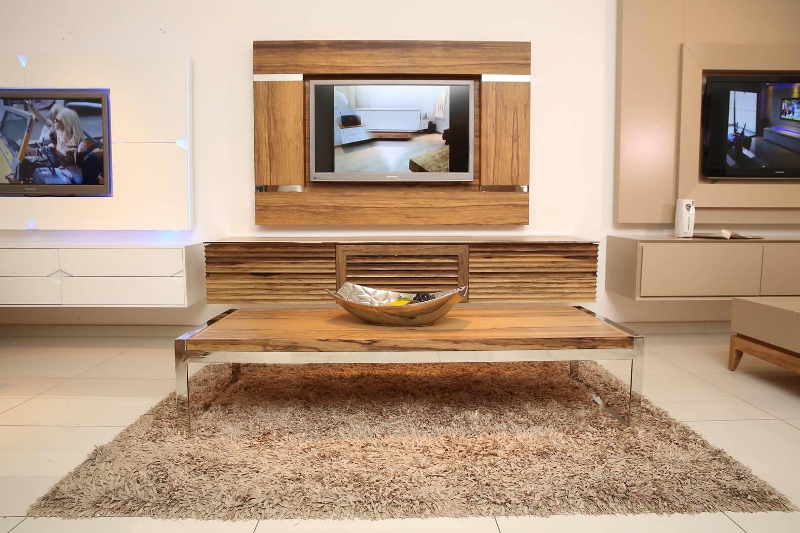 שולחן עץ נירוסטה אגוז