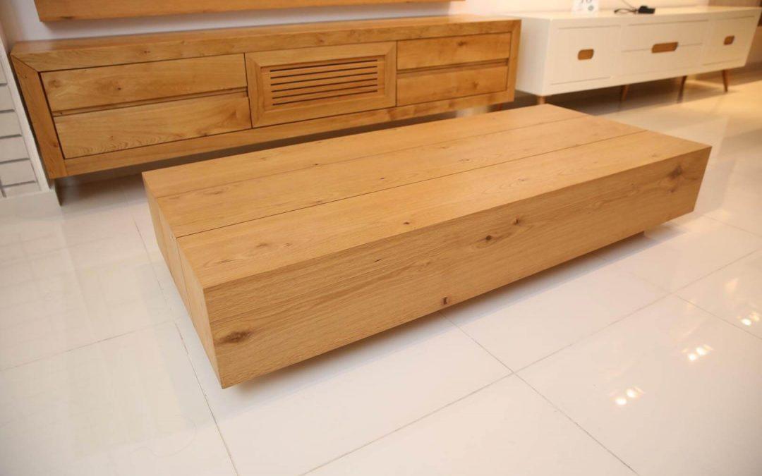 שולחן סלון מעץ דגם 'אלון'