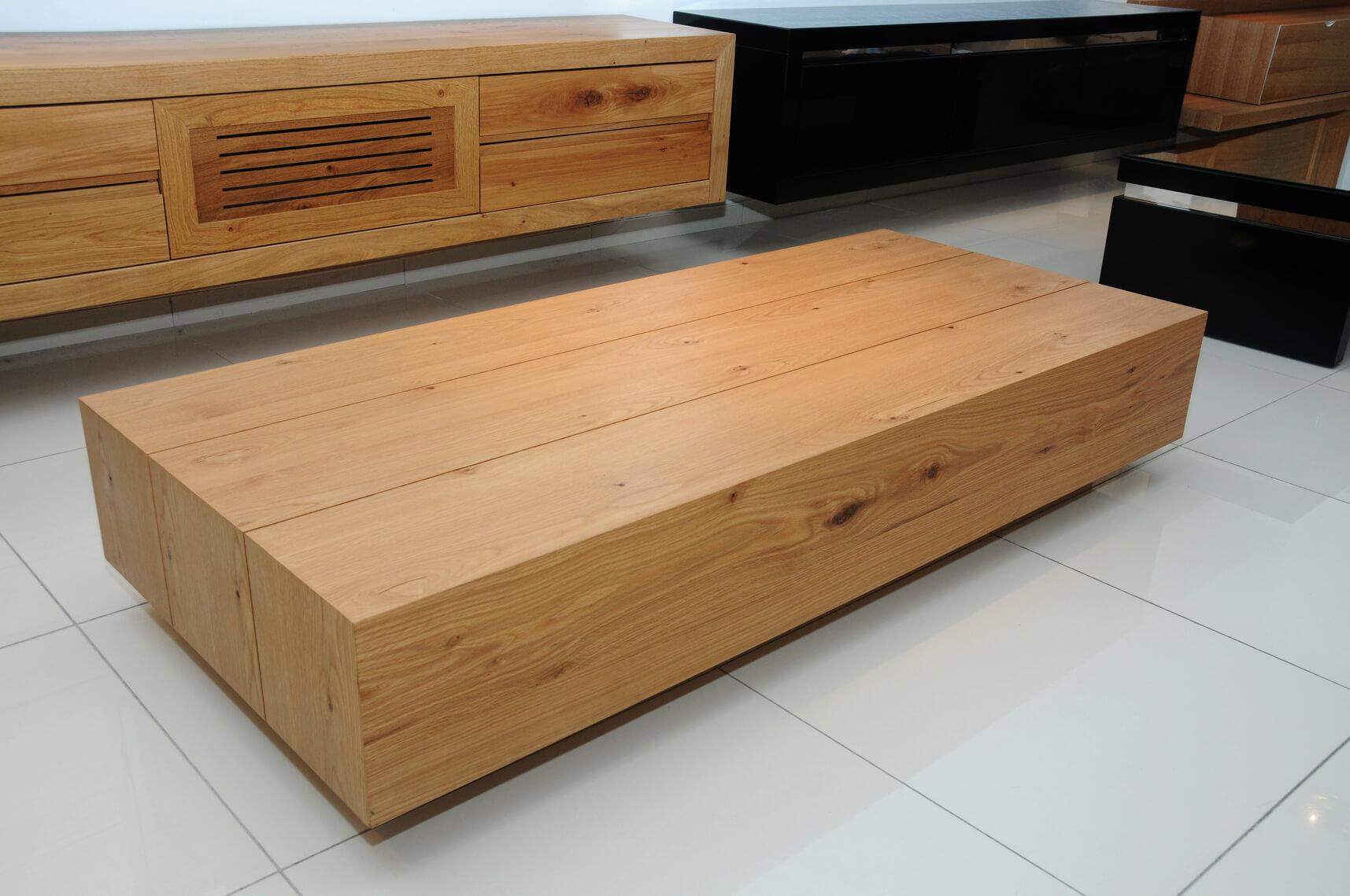 שולחן לסלון מעץ דגם אלון