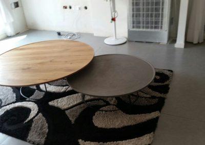 שולחן סלון עגול מעץ דגם 'צלחת'