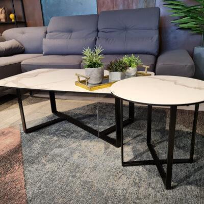 שולחן סלון ,פלטה כרמי פורצלן