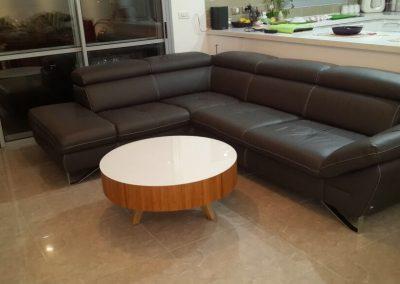 שולחן סלון לבן דגם 'סליק'