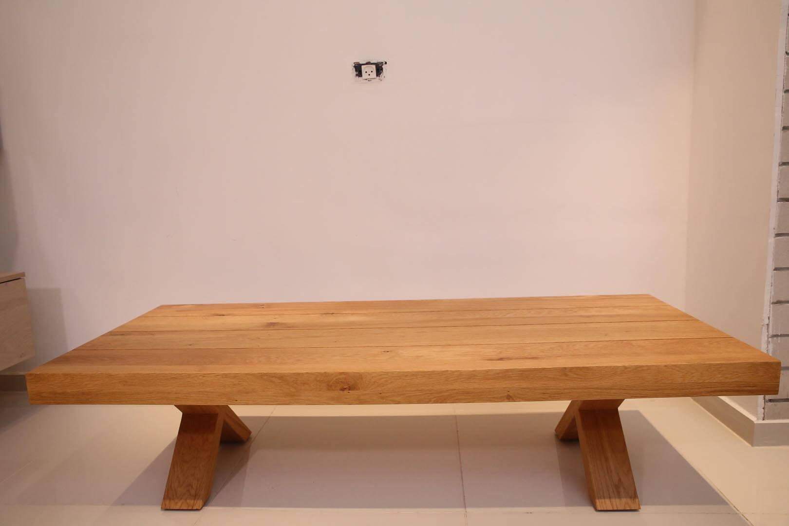 שולחן סלון מעץ איקס