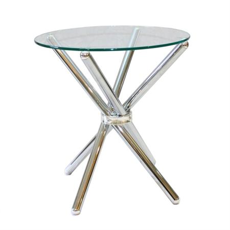 שולחן עגול 50 סנ/רגל ישרה h60